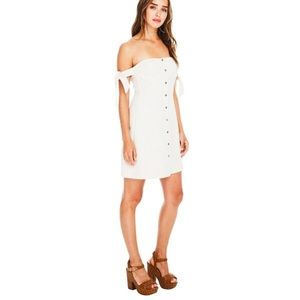 ASTR off the shoulder mini dress